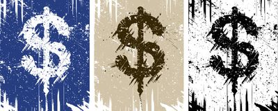 Dirty money stock illustration