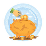 Dirty money business illustration Royalty Free Stock Photos