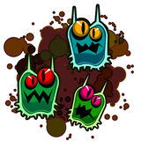 Dirty Monsters Royalty Free Stock Photography