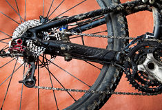 Dirty mountain bike Royalty Free Stock Image