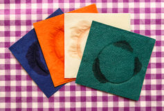 Dirty napkins Stock Photos