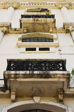 Dirty Neo Classical Building Facade Stock Photo