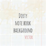 Dirty note book background vector Stock Photos