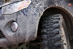 Dirty off road car. On sports activity royalty free stock photo