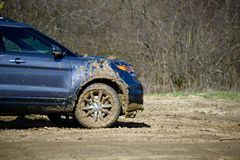 Dirty Off-Road Driving Stock Image