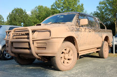 Dirty offroad car. Dirty offroad pick up car Stock Image