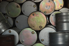 Dirty Oil Drum Stock Photography