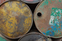 Dirty Oil Drum Stock Images