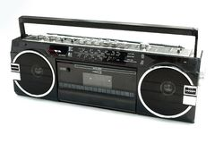 Dirty Old 1980s Style Cassette Player Stock Photos