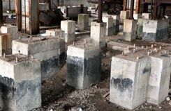 Dirty old abandoned concrete foundation Stock Photography