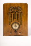 Dirty Old Antique Wood Console Vintage Radio Missing Knobs Royalty Free Stock Image
