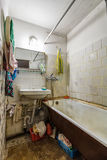 Dirty old bathroom Stock Photo