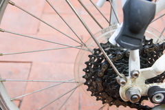 Dirty old bicycle sprocket Royalty Free Stock Photo