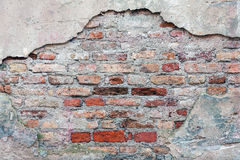 Dirty old brick wall background. Dirty abandoned old brick wall background Royalty Free Stock Images