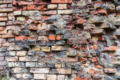 Dirty old brick wall background. Dirty abandoned old brick wall background Royalty Free Stock Image