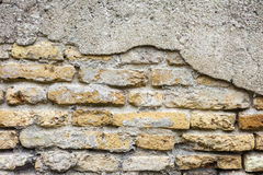 Dirty old brick wall background. Dirty abandoned old brick wall background Royalty Free Stock Photos