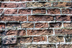 Dirty old brick wall background. Dirty abandoned old brick wall background Royalty Free Stock Photo