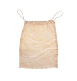 Dirty old brown textured sack isolated Stock Photo