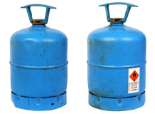 Dirty old butane cylinders Stock Images