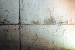 Dirty Old Cement Wall Stock Photography