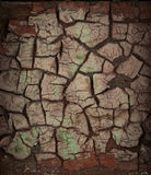 Dirty old cracked wall Stock Image
