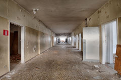 Dirty, old and forgotten corridor Stock Images
