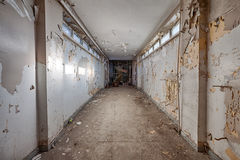 Dirty, old and forgotten corridor Stock Image