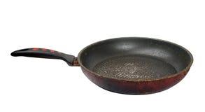 Dirty old frying pan Stock Photos