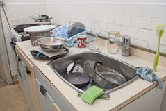 Dirty old kitchen Royalty Free Stock Photo