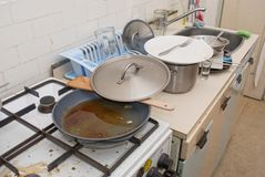Dirty old kitchen Stock Photography