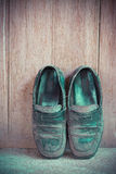 Dirty old leather shoes Royalty Free Stock Photo
