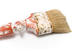 Dirty old paintbrush Royalty Free Stock Photo