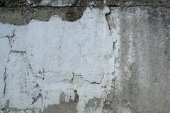 Dirty old, grungy painted plaster wall Stock Photos