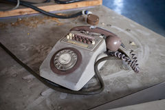 Dirty old phone Stock Images