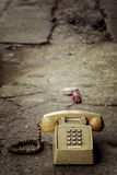 Dirty old phone Royalty Free Stock Photography