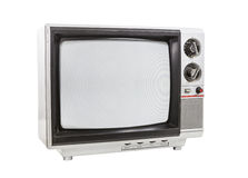 Dirty Old Portable Television Isolated Stock Photography