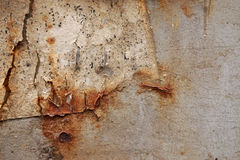 Dirty old rusted grunge rough surface. Close up stock photo
