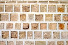 The dirty old stone wall. That are box pattern Royalty Free Stock Image