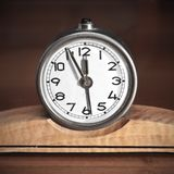 Dirty old table clock Stock Photography