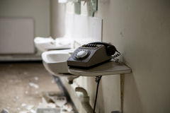 Dirty old telephone Royalty Free Stock Photography