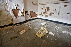 Dirty old telephone Stock Photos