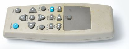 Dirty old VCR Remote control from the side Stock Photography