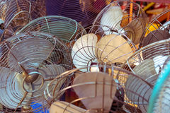 Dirty old vintage metal fan Stock Images