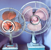 Dirty old vintage metal fan Royalty Free Stock Photos