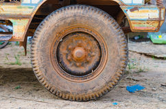 Dirty old wheel Royalty Free Stock Photos