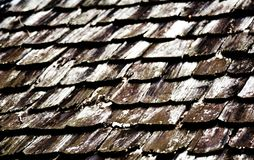 Dirty old wood roof Royalty Free Stock Photos