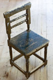 Dirty old wooden chair Royalty Free Stock Images
