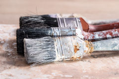 Dirty Paint Brushes Royalty Free Stock Photography