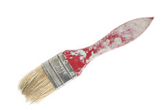 Dirty paintbrush. Royalty Free Stock Image