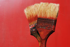 Dirty paintbrushes Royalty Free Stock Images
